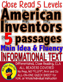 5 leveled Passages AMERICAN INVENTORS: Edison Bell Wright Bros Carver Einstein