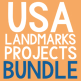 AMERICAN LANDMARKS Biography Coloring Pages and Research P