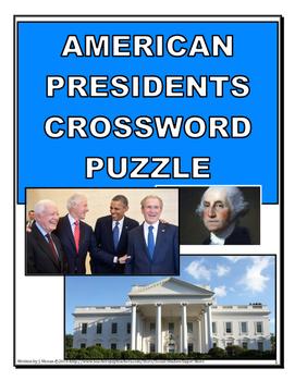 AMERICAN PRESIDENTS CROSSWORD PUZZLE