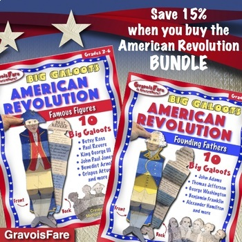 AMERICAN REVOLUTION BUNDLE: Save 15%—Founding Fathers and Famous Figures