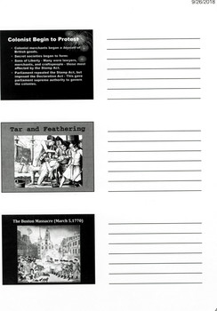 AMERICAN REVOLUTION POWERPOINT WITH NOTES SECTION