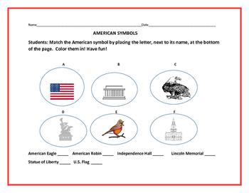 AMERICAN SYMBOLS ACTIVITY: BE PROUD OF AMERICA!