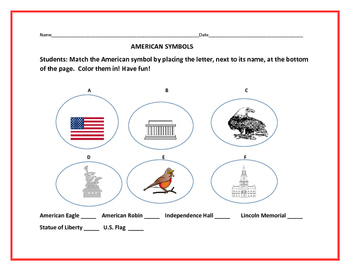 AMERICAN SYMBOLS ACTIVITY: BE PROUD OF AMERICA!