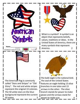 AMERICAN SYMBOLS Mini Book Reader
