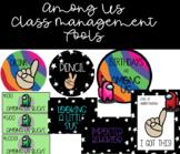 AMONG US Rainbow Class Decor-Clip Chart, AmongUs Bucks, Hand Signals, Birthdays