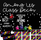 AMONG US Rainbow Class Decor-Teacher Toolbox Labels, Posters, and Calendar Pack