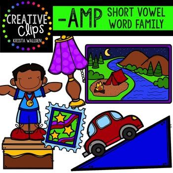 AMP Short A Word Family {Creative Clips Digital Clipart}