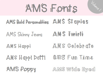 AMS Font Bundle: Volume 1 - For Commercial and Personal Use