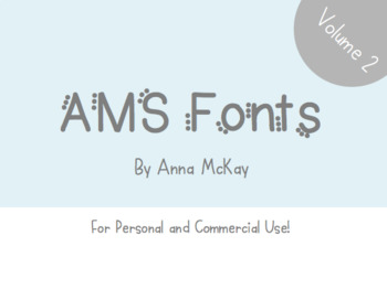 AMS Font Bundle: Volume 2 - For Commercial and Personal Use