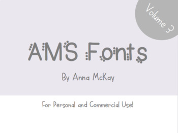 AMS Font Bundle: Volume 3 - For Commercial and Personal Use