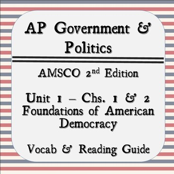 Ap Government Unit 1 Worksheets Teaching Resources TpT