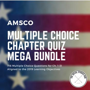 AMSCO Multiple Choice Chapter Quiz Mega Bundle