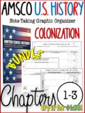 NEW! AMSCO U.S. History Graphic Organizer Chapter 1, 2, & 3