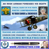 AN IRISH AIRMAN FORESEES HIS DEATH BY W B YEATS - WORKSHEETS WITH ANSWERS