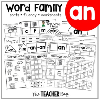 AN Word Family Activities