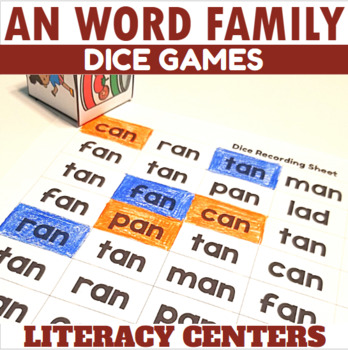 AN Word Family Dice Games for Centers or Small Groups