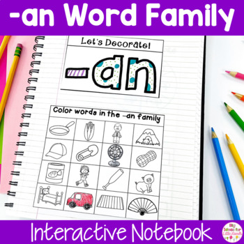AN Word Family Interactive Notebook