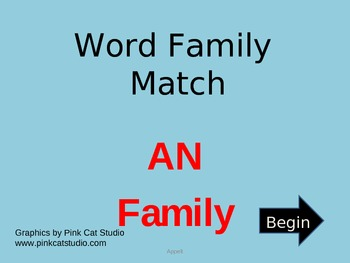 AN Word Family Powerpoint Game