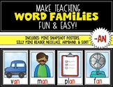Word Families {AN} Snapshot Mini Unit {Kindergarten & First Grade} Rhyming Words