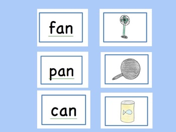 """AN"" Word Family Story PLUS Memory Game, Flip Book, and Flashcards"