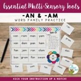 Word Family: AN AM | Multisensory Practice Activities Lite