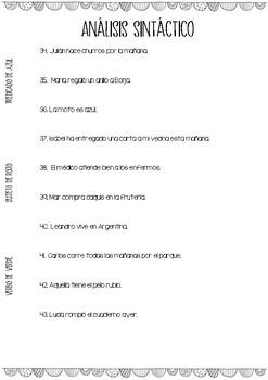 ANÁLISIS SINTÁCTICO - FRASES