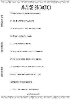 ANÁLISIS SINTÁCTICO - FRASES ( PARTE 1)