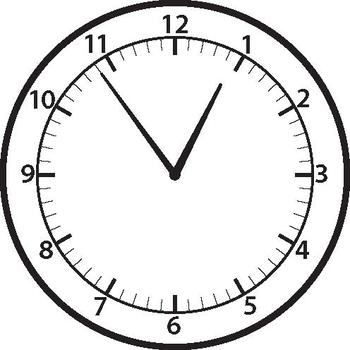 TIME - ANALOGUE CLOCK CLIP-ART - SHOWING EVERY POSSIBLE TIME TO 1 minute + Blank