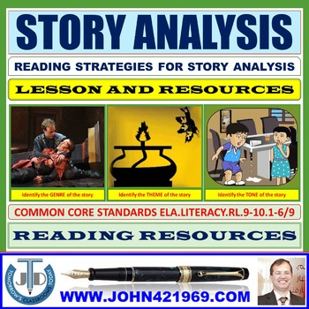 ANALYZING A STORY FOR CRITICAL APPRECIATION: LESSON & RESOURCES