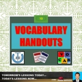 VOCABULARY HANDOUTS: BUNDLE
