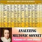 ON HIS BLINDNESS - ANALYZING MILTONIC SONNET - UNIT PLANS