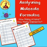 ANALYZING MOLECULES COMPOUNDS MS-PS1-1 How Many Atoms? Elements? 2 Worksheets