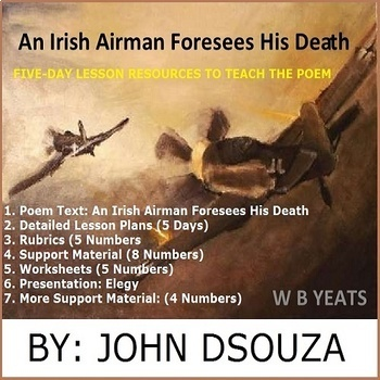 AN IRISH AIRMAN FORESEES HIS DEATH - POEM ANALYSIS: LESSONS & RESOURCES