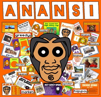 ANANSI STORY TEACHING RESOURCES EYFS KS1 READING AFRICA SPIDER ANIMALS MORAL