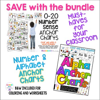 ANCHOR CHARTS - ALPHABET + NUMBERS {phonics + number sense}