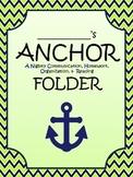 ANCHOR FOLDER cover Daily folder cover, Nautical Theme Lim