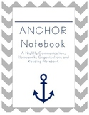 ANCHOR Notebook Cover Nautical Theme