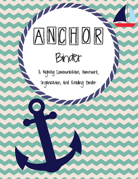 ANCHOR communication and homework binder (multiple options)