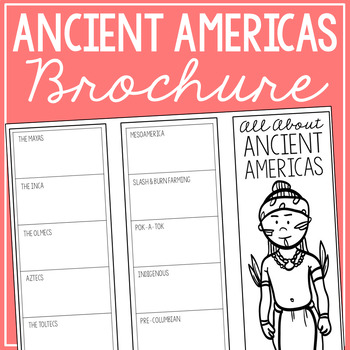 ANCIENT AMERICAS Research Brochure Template, World History Project