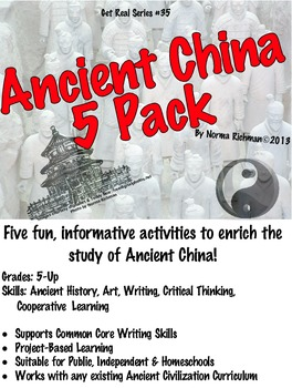 ANCIENT CHINA 5-PACK LESSONS. FUN ART, WRITING, PROJECT-BASED ACTIVITIES