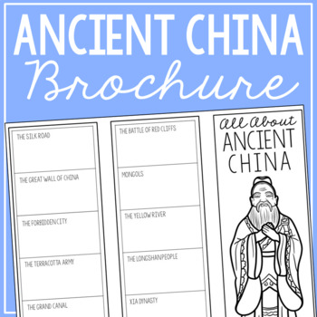 ANCIENT CHINA Research Brochure Template, World History Project