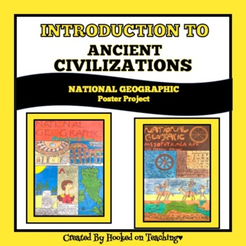 ANCIENT CIVILIZATIONS-NATIONAL GEOGRAPHIC MAGAZINE COVER PROJECT