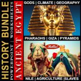 Ancient Egypt ⭐ EDITABLE ⭐ DISTANCE LEARNING ⭐POWERPOINT ⭐ MEGA BUNDLE!
