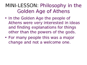 ANCIENT GREECE PHILOSOPHY POWERPOINT