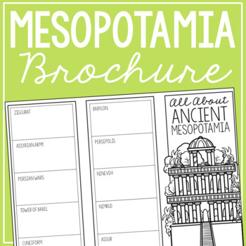 ANCIENT MESOPOTAMIA Research Brochure Template, World History Project