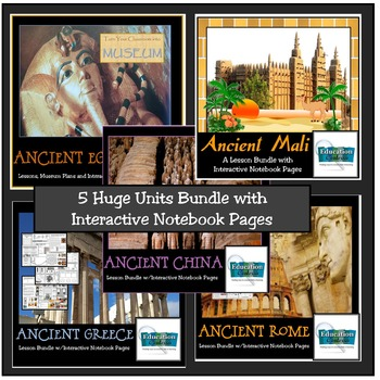 ANCIENT CIVILIZATION UNITS BUNDLE: Rome, Greece, Egypt, Mali, China