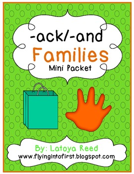 AND / ACK Word Family Pack