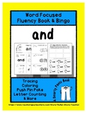 AND - Word Fluency Book & Emotion Bingo - Sight Word Focus