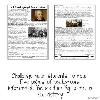 ANDREW JACKSON ACTIVITY AND TASK CARDS
