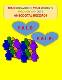 ANECDOTAL RECORD FOR ALL LEVELS